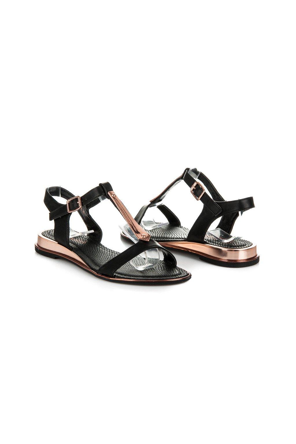 Čierne sandále 568-16B