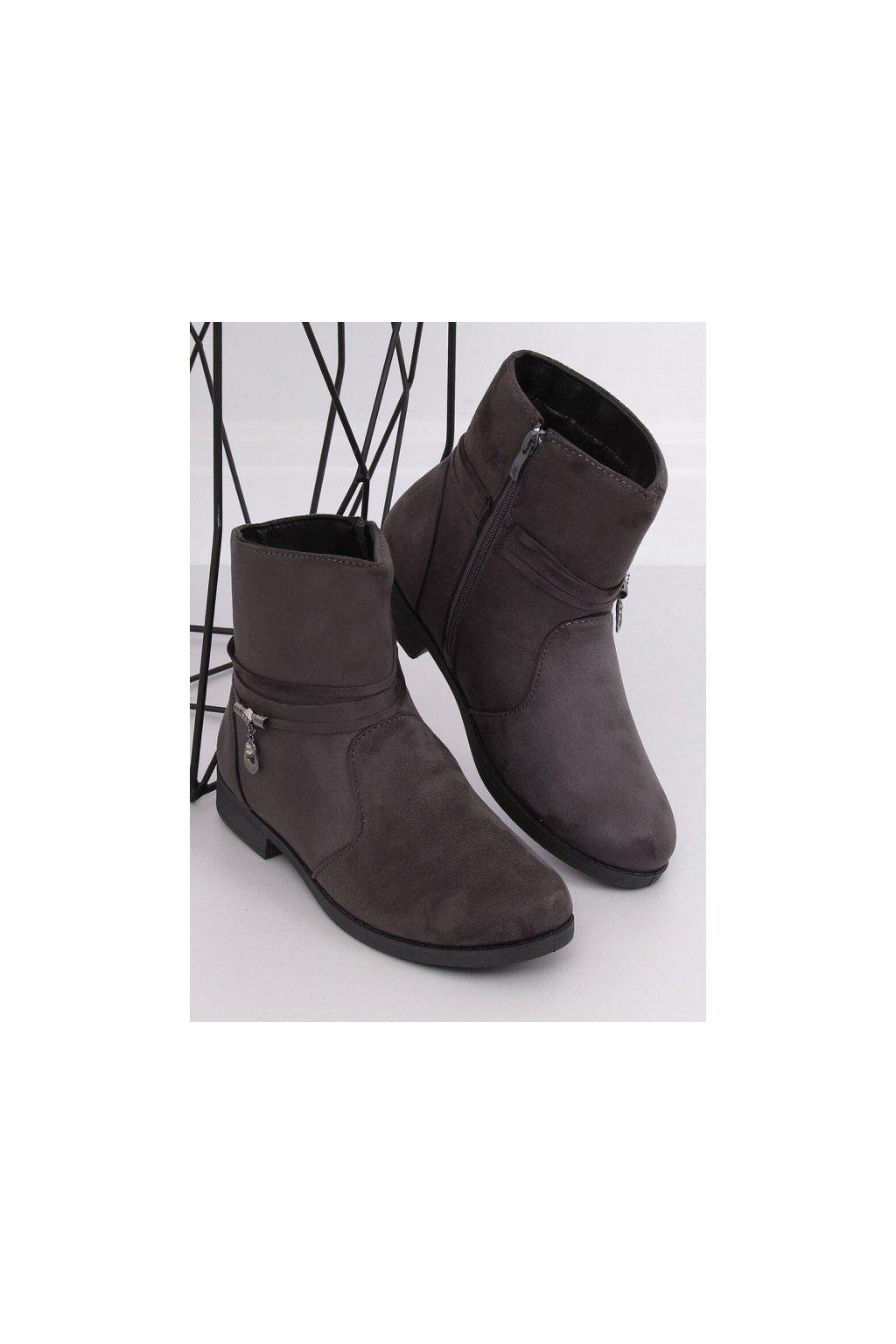 sive clenkove cizmy na nizkom podpatku so zapinanim na zips (1)