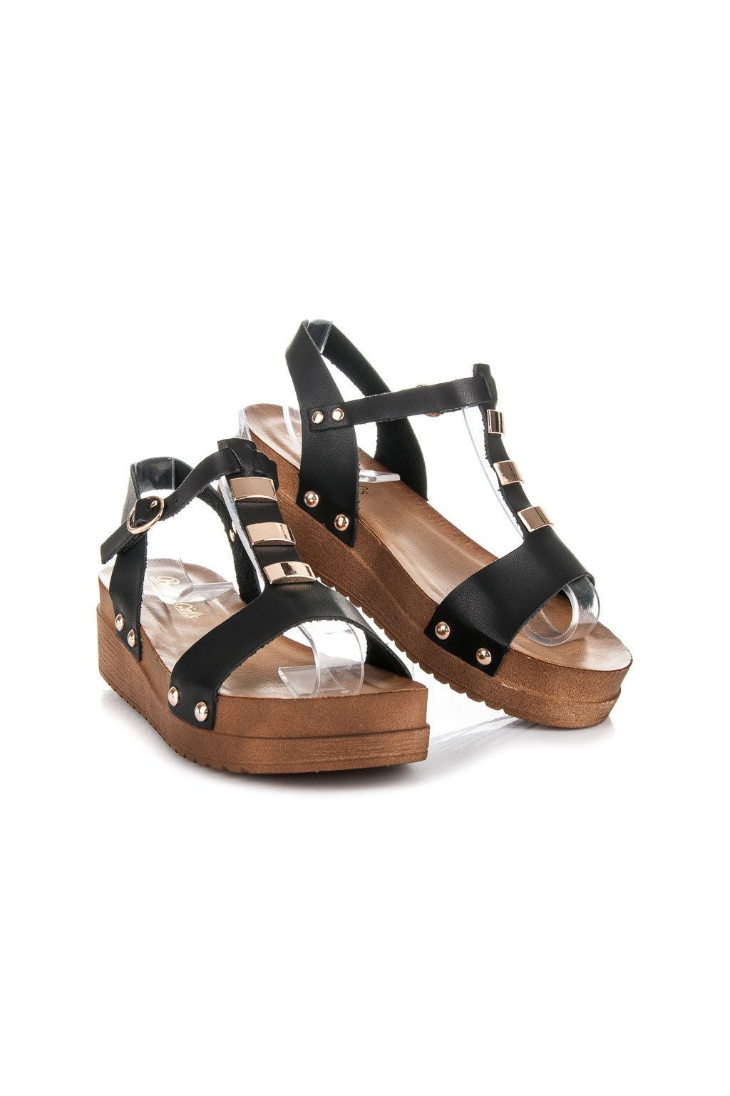 Čierne sandále 568-6B