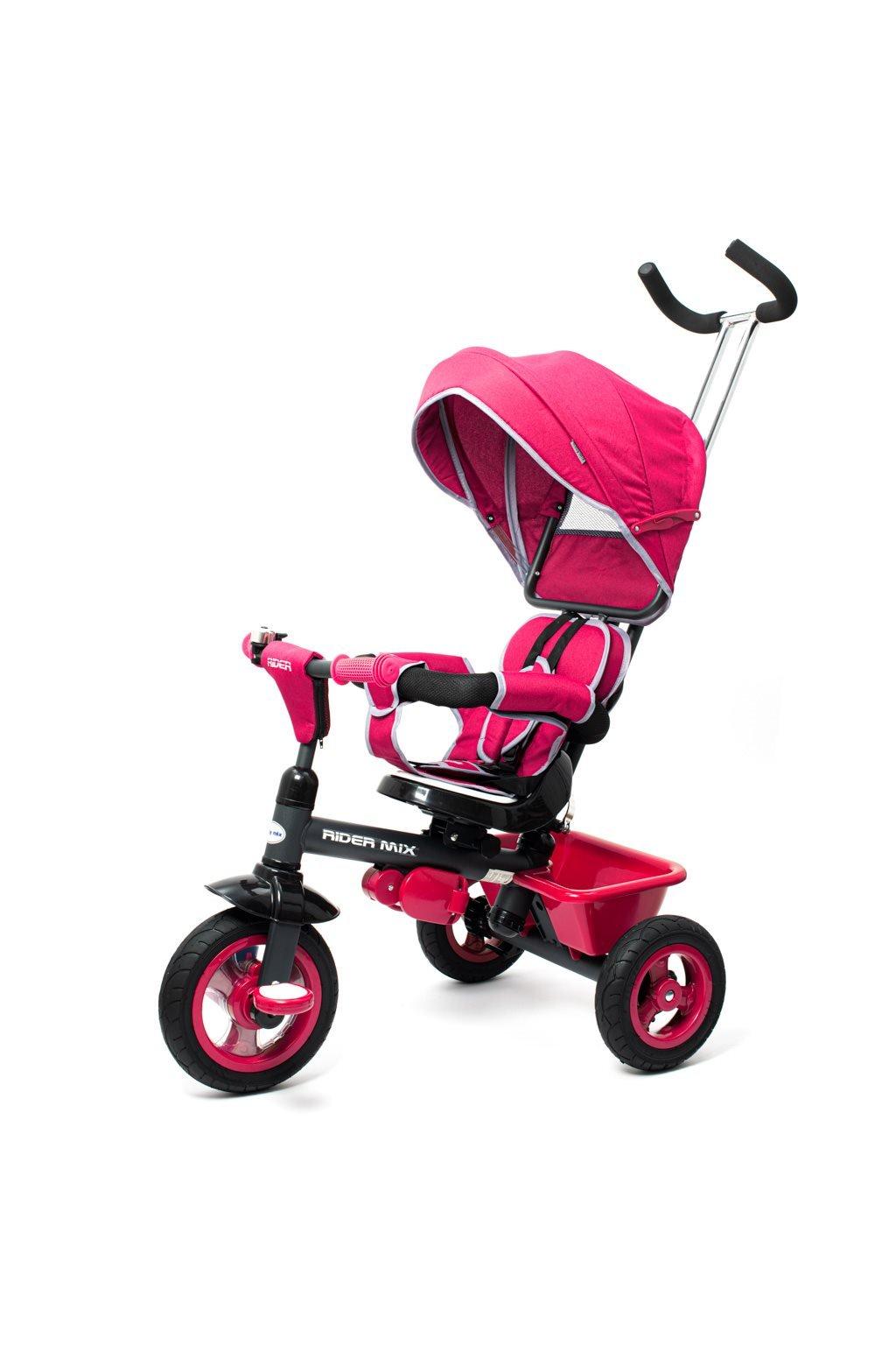Detská trojkolka Baby Mix 5v1 RIDER 360° ružová