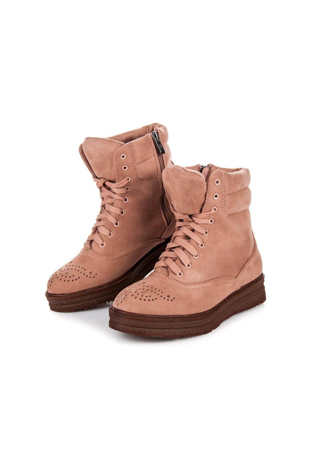Ružové členkové topánky Melinda 2115-20P