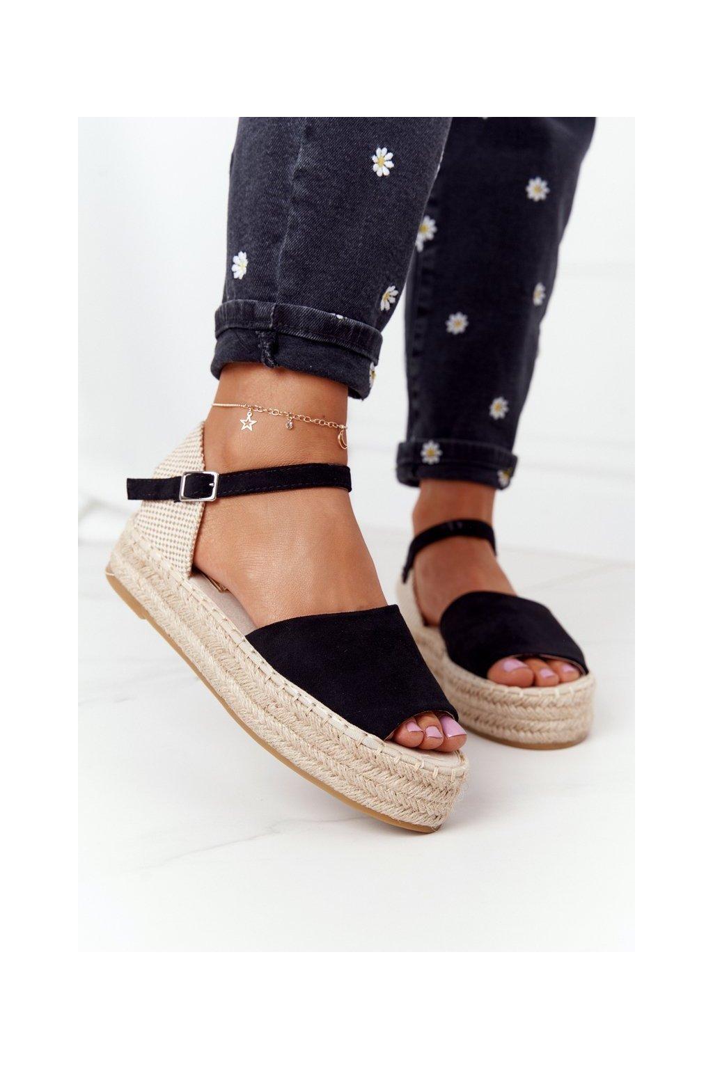 Čierne sandále NJSK A663 BLACK