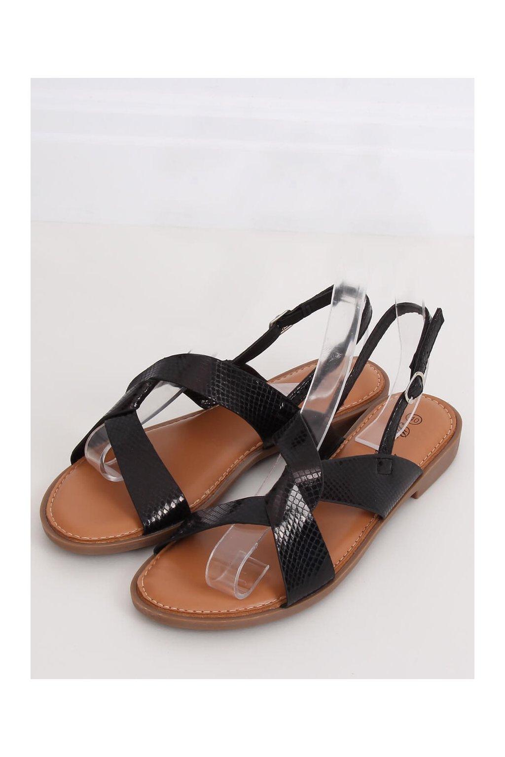 Ćierne sandále Renda kod 222-31 BLK