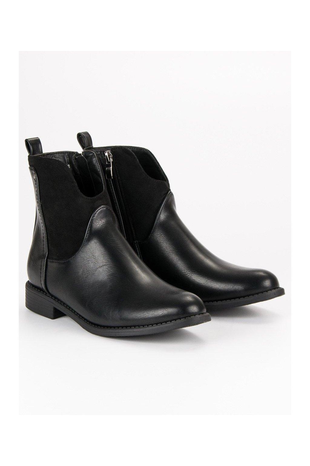 Čierne topánky NJSK DBT302/18B
