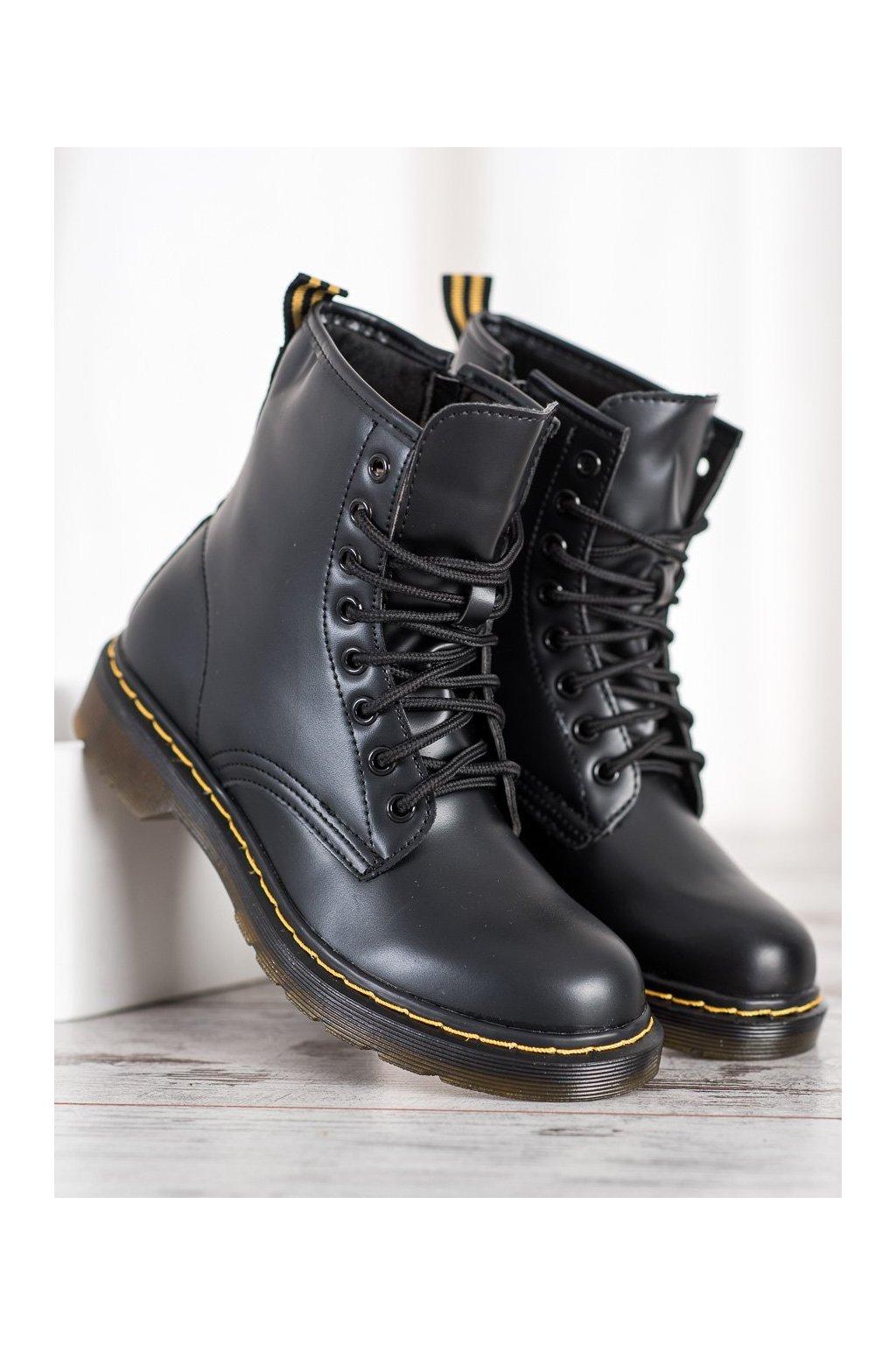 Čierne topánky NJSK NC1019B