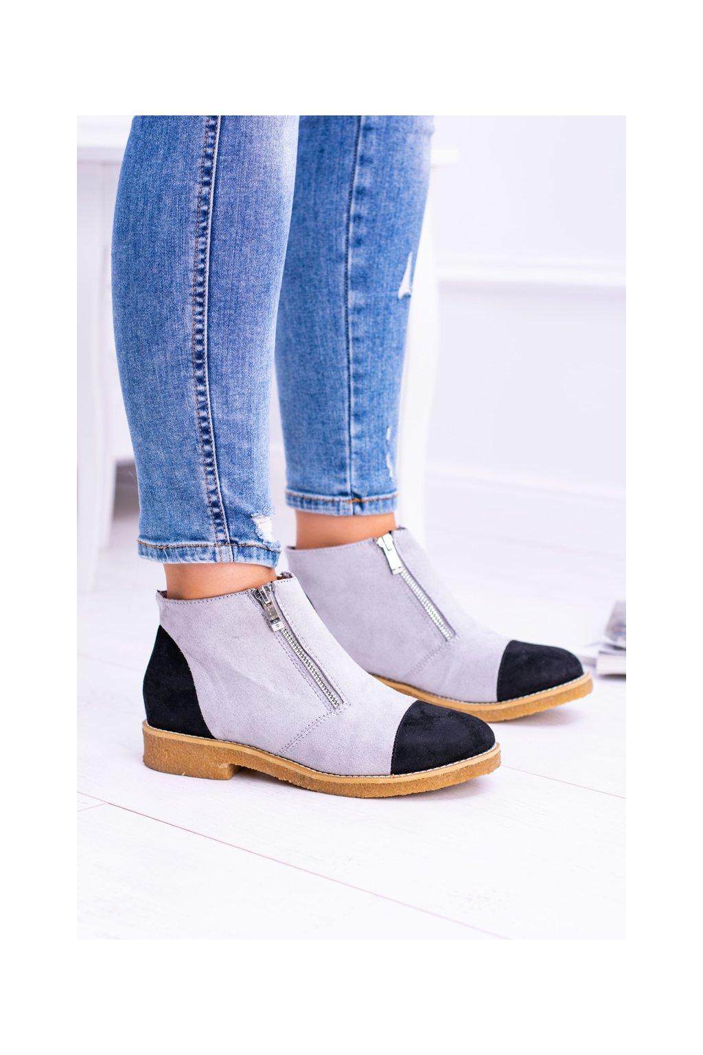 Sivé topánky NJSK XW37275 GREY