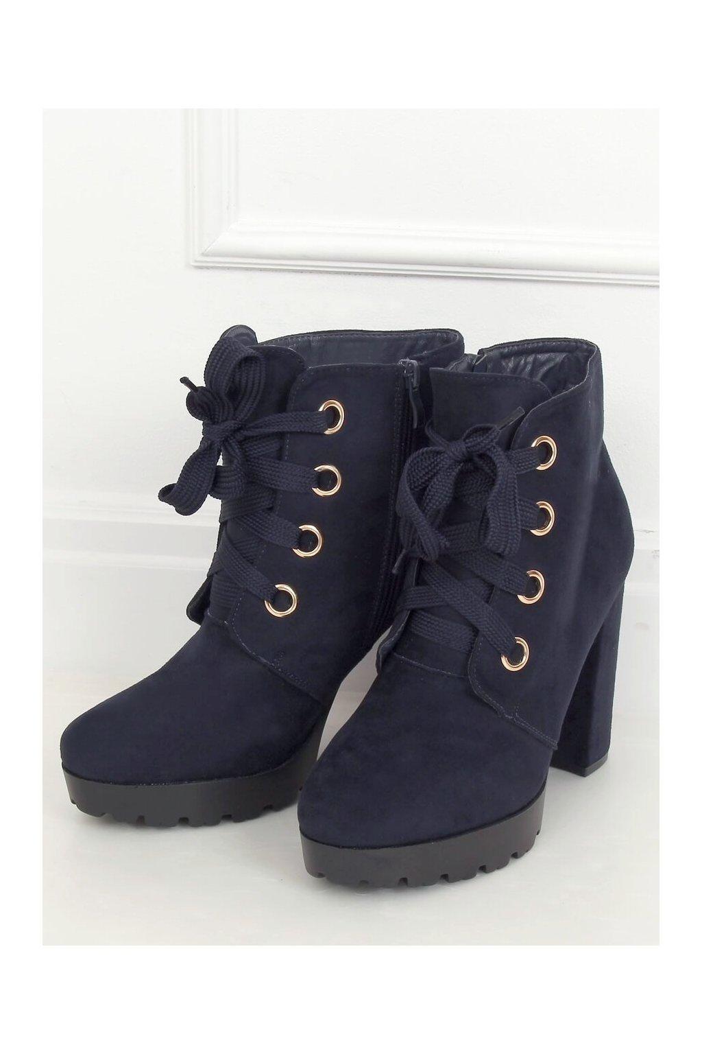 Modré členkové topánky NJSK L8126