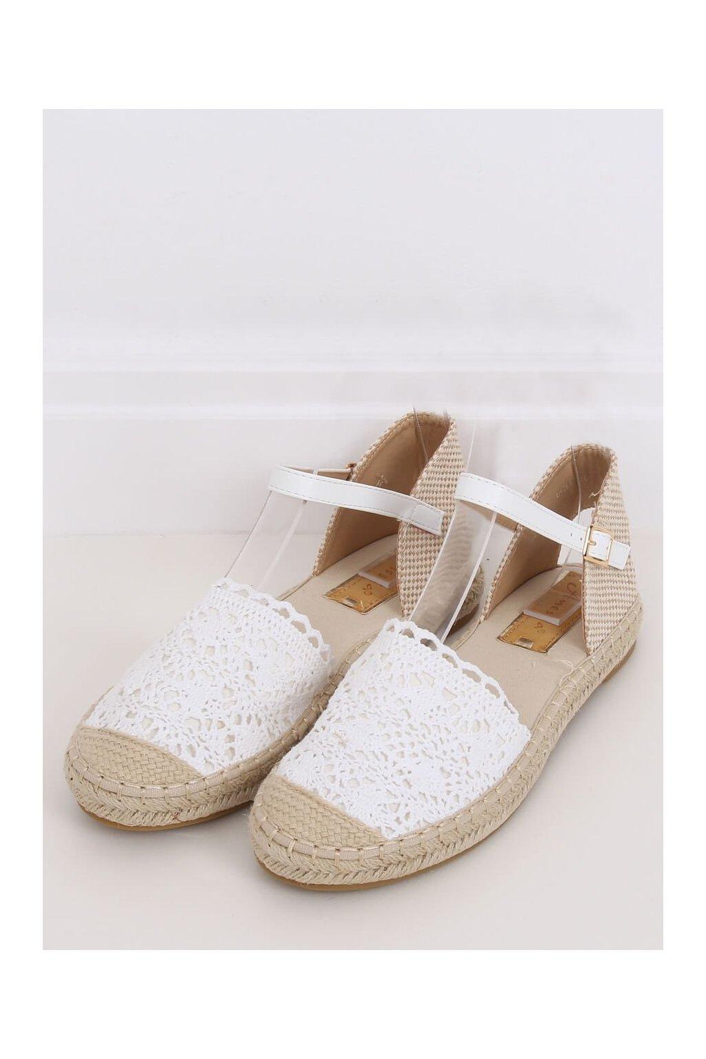 Biele sandále NJSK L-1067