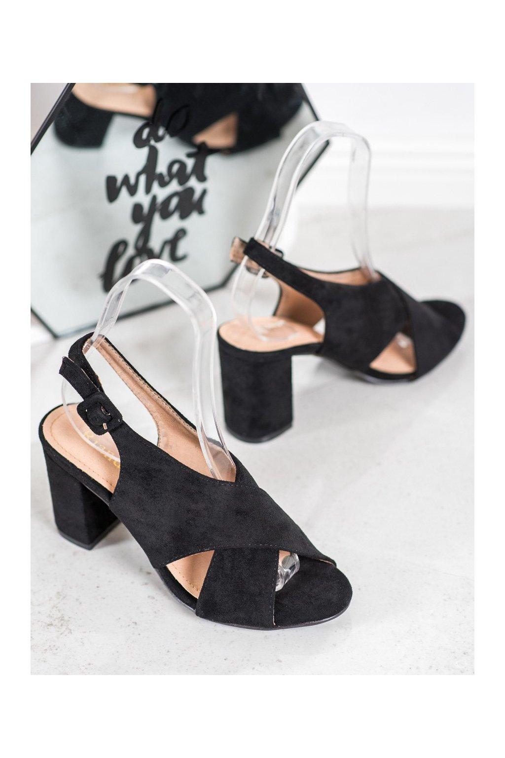 Čierne sandále NJSK F1827B