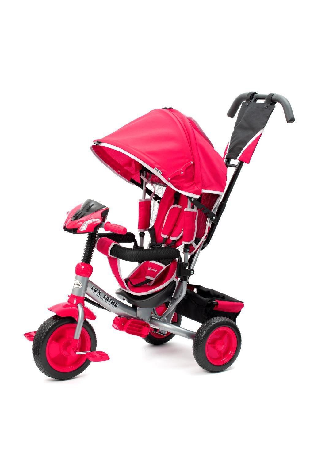 Detská trojkolka so svetlami Baby Mix Lux Trike ružová