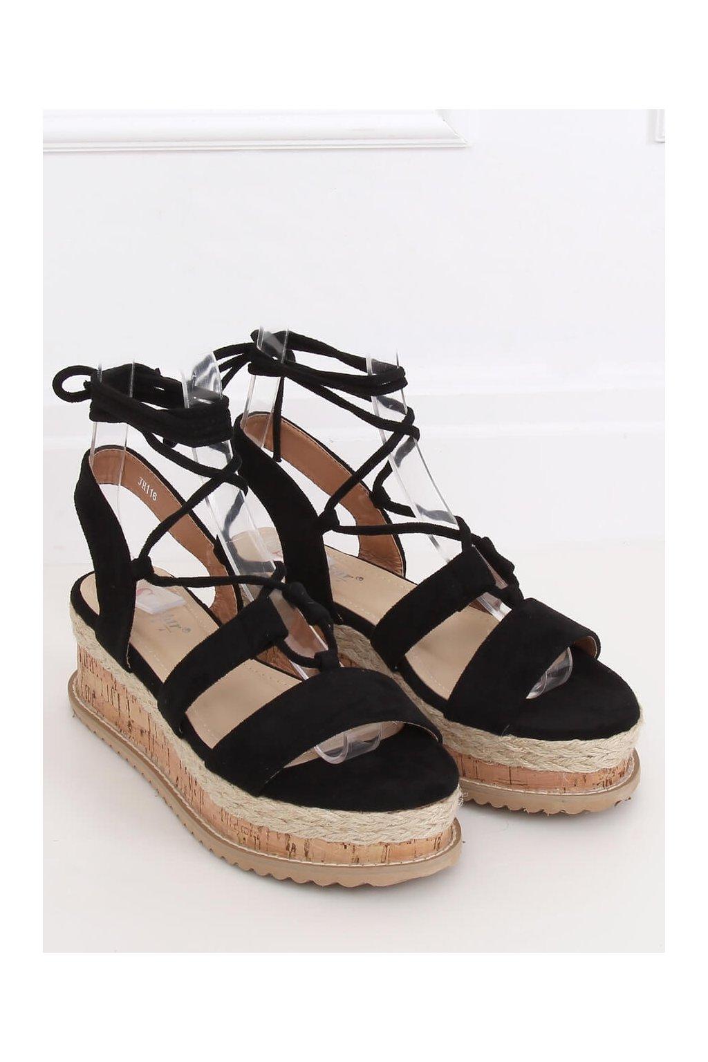 Čierne sandále NJSK JH116