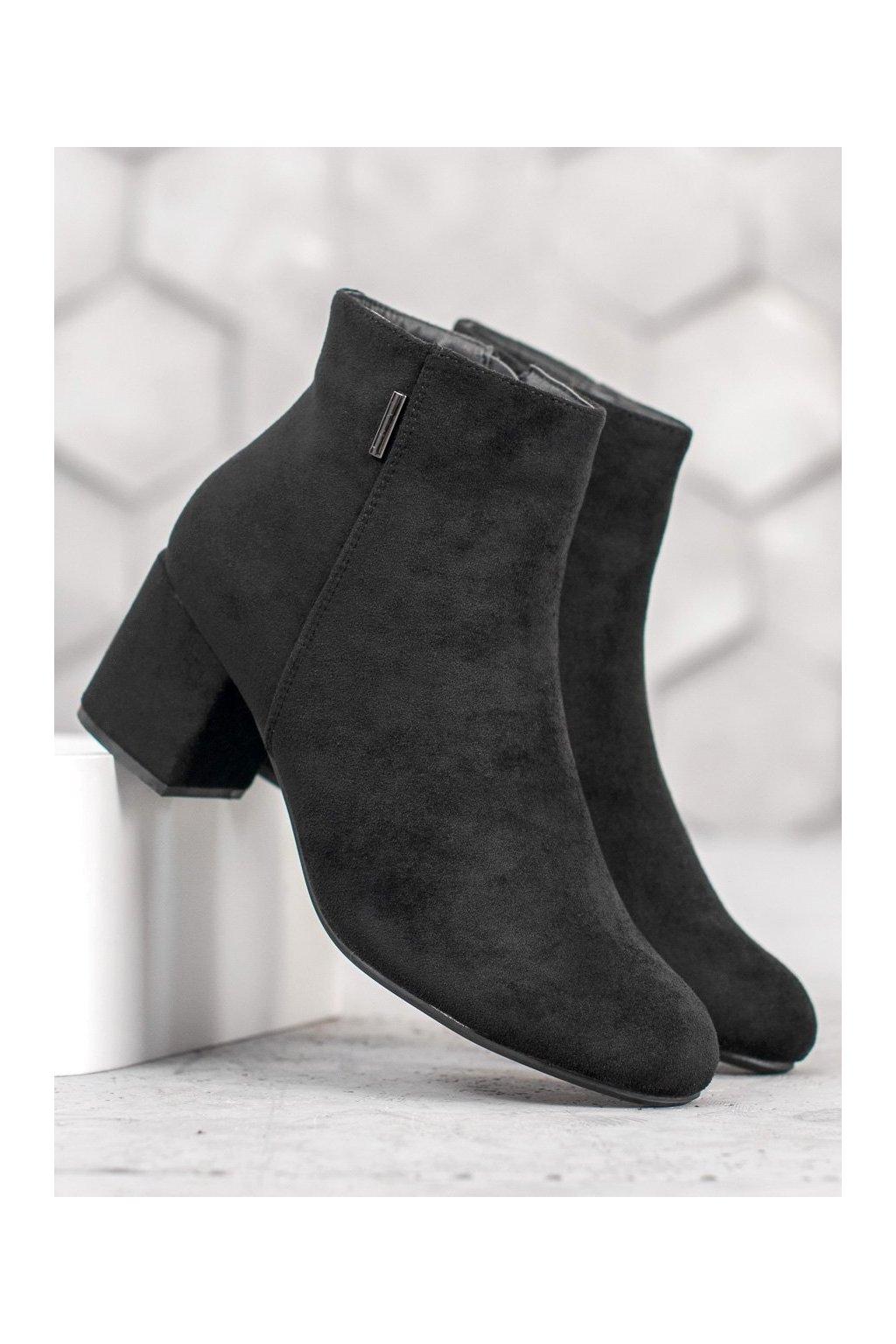 Čierne topánky NJSK A9312-1B