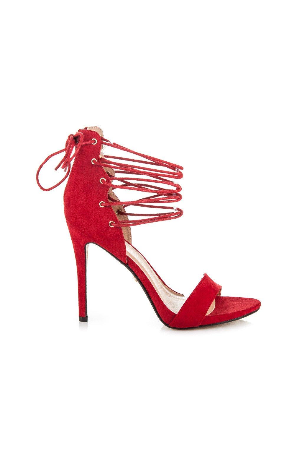 Červené sandále ZJ-6325R