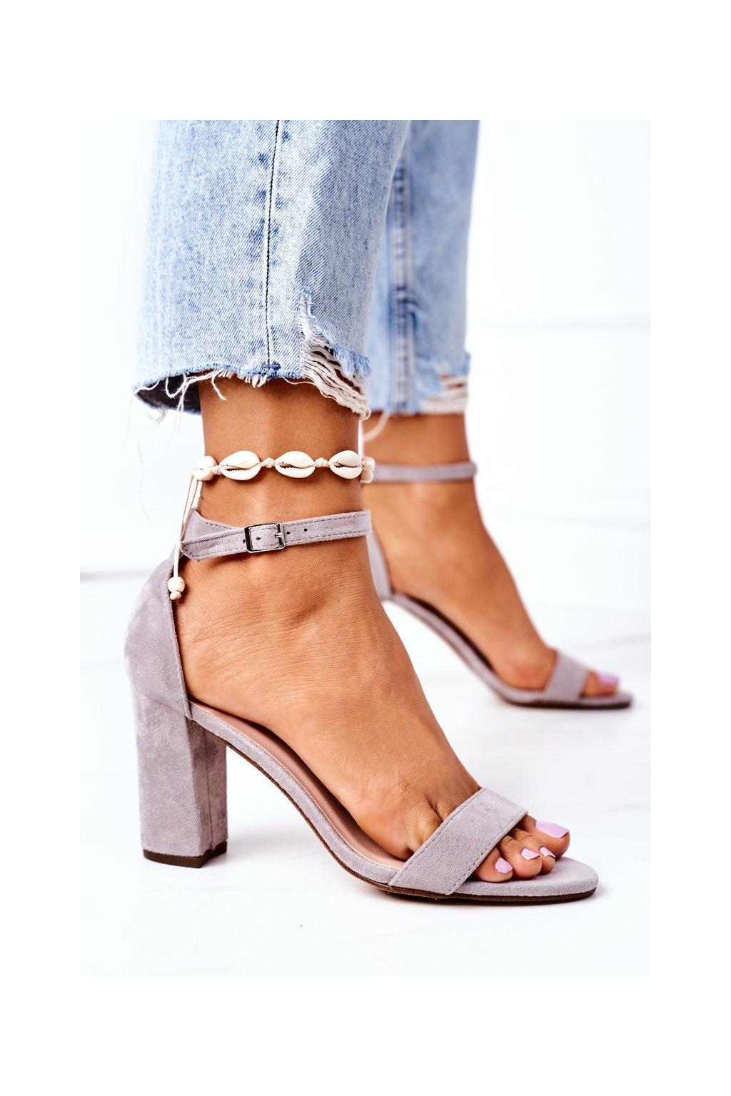 Sivé sandále NJSK CD59 GREY