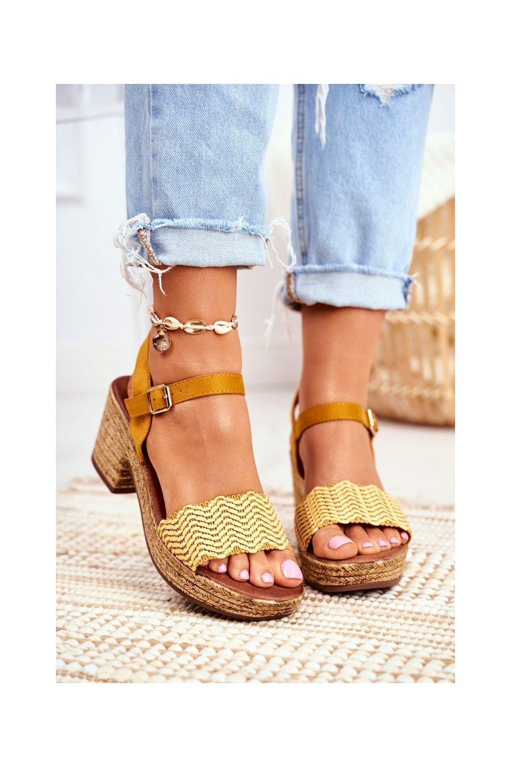 Žlté sandále NJSK 20SD98-1615