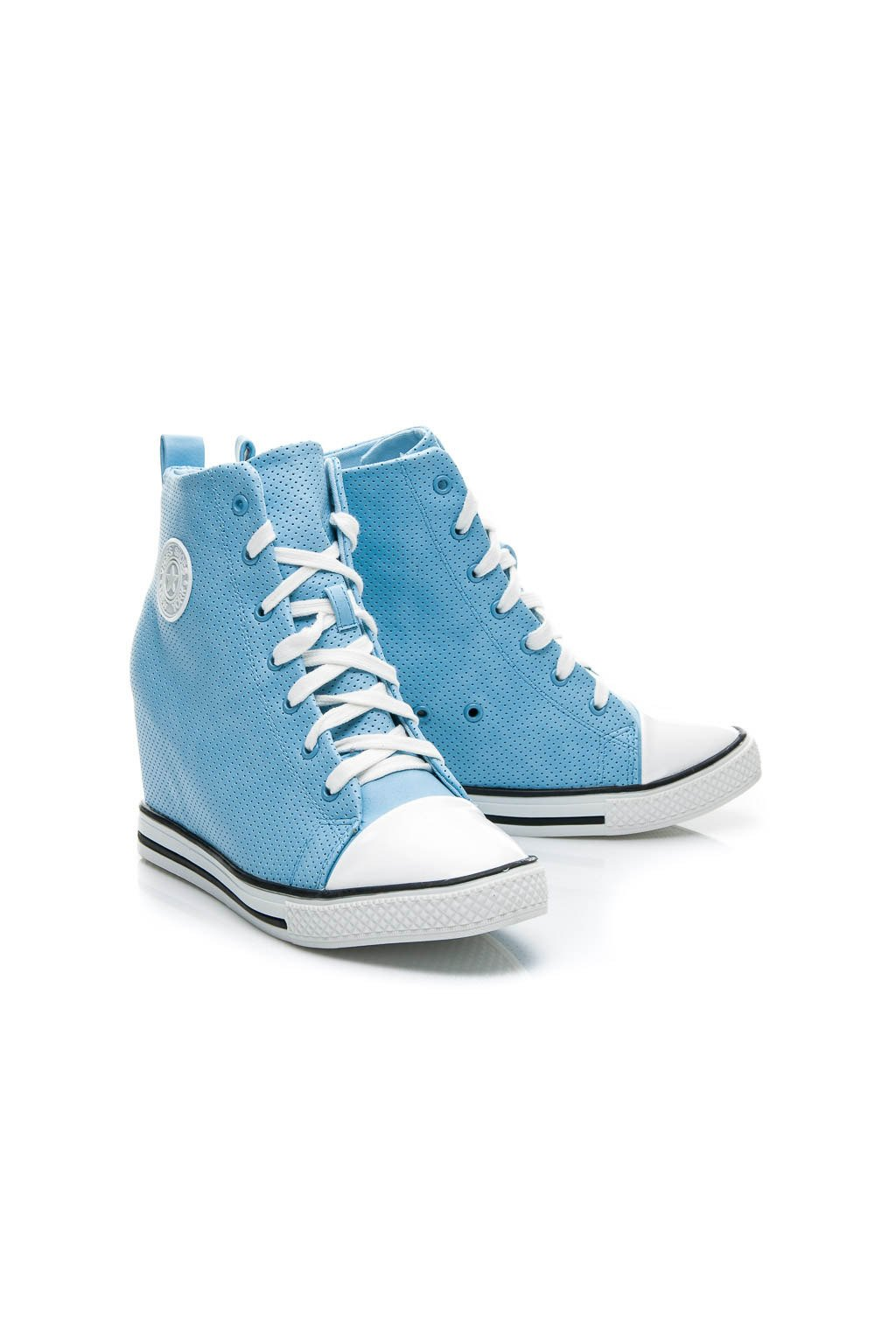 Platformové tenisky modré Y601BL / S3-68P veľ.č. 38, 40 (Veľkosť UK7 / EUR 40)