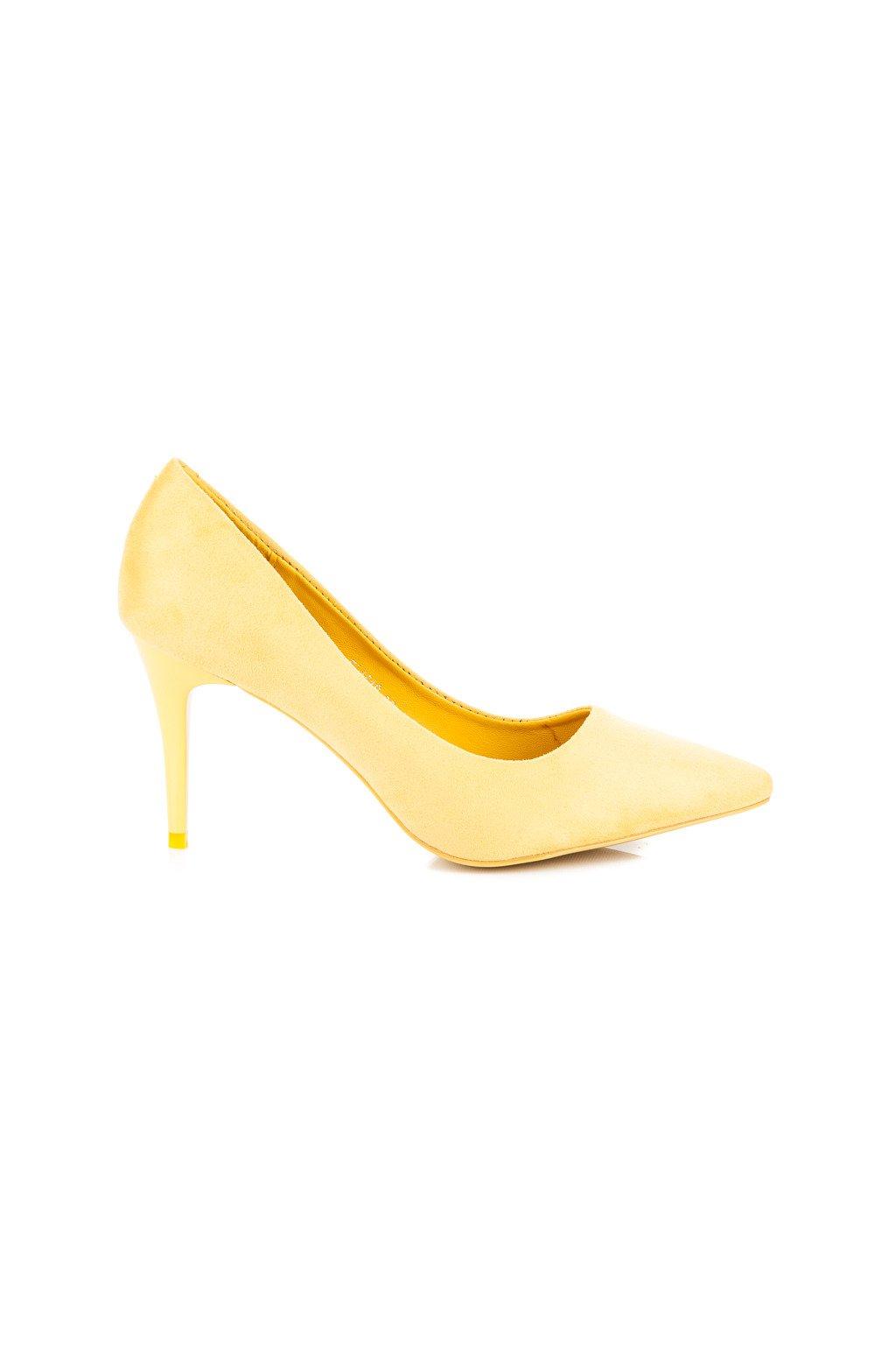Žlté lodičky SUEDE