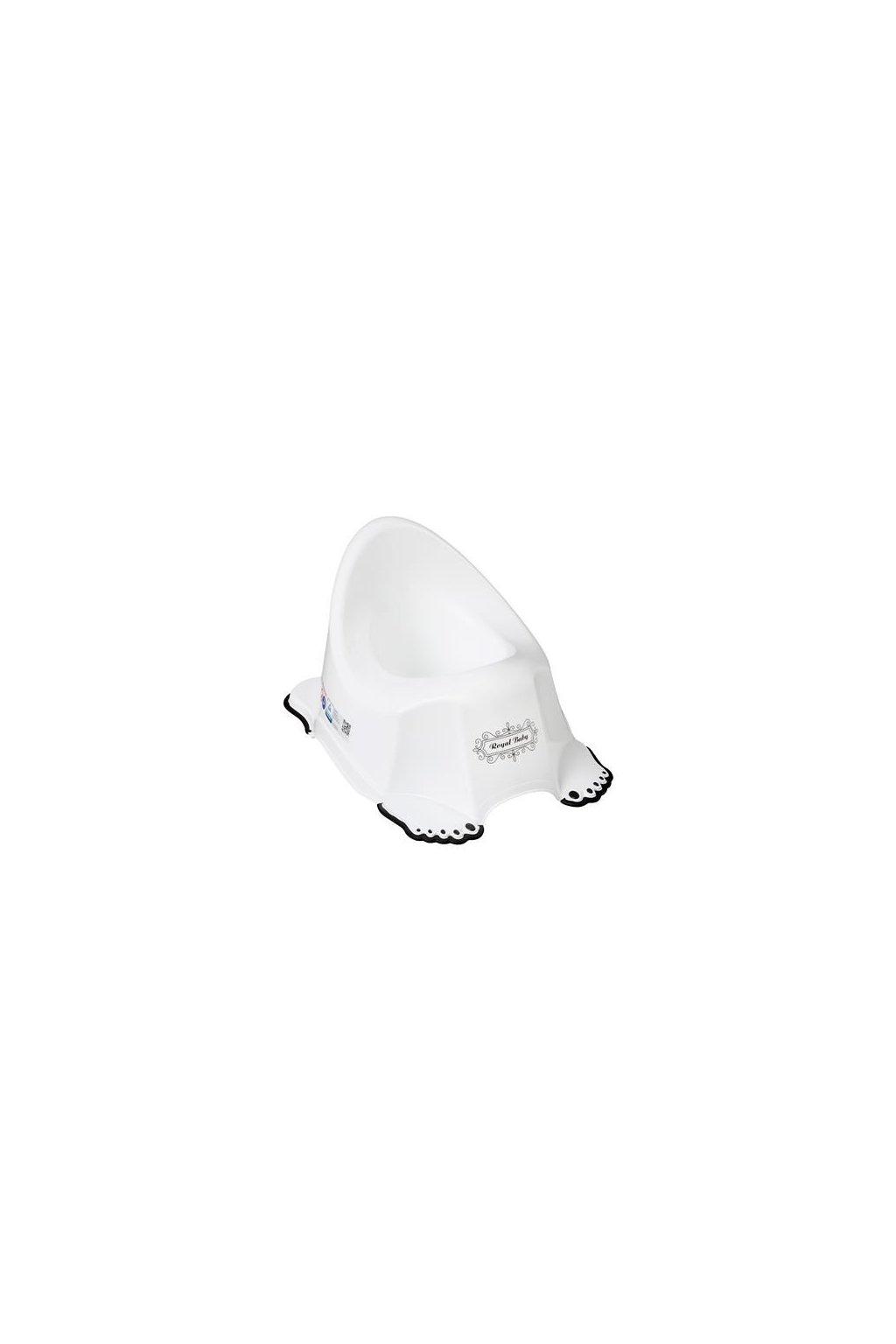 Hrajúci detský nočník protišmykový Royal bielo-čierny