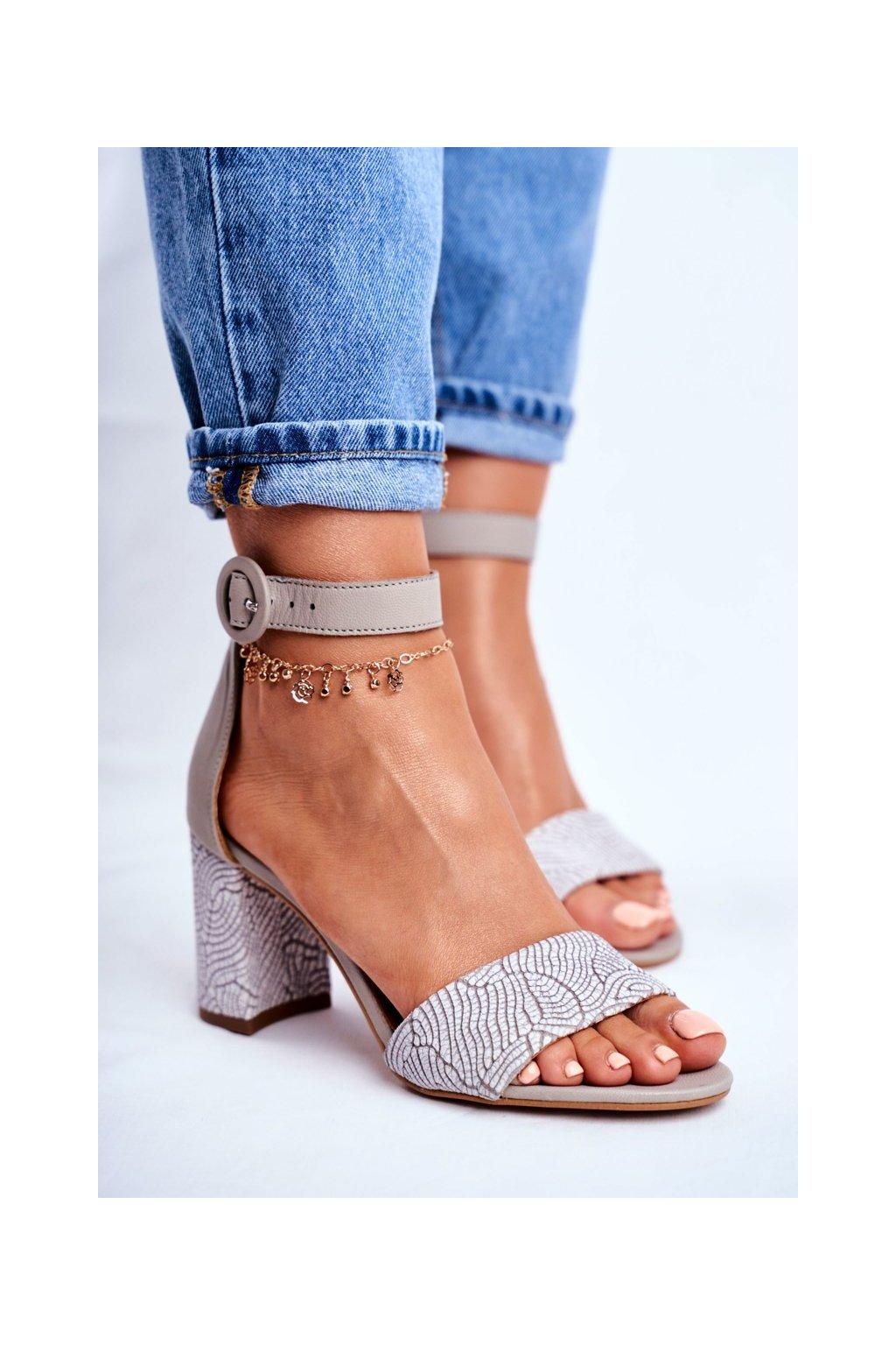 Sivé sandále NJSK 04235-03/00-5 GREY