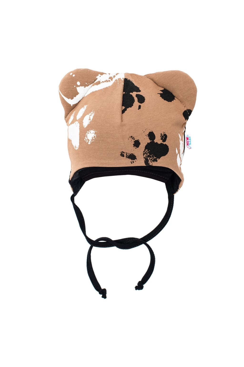 Dojčenská bavlnená čiapka s uškami New Baby Paw horčicová