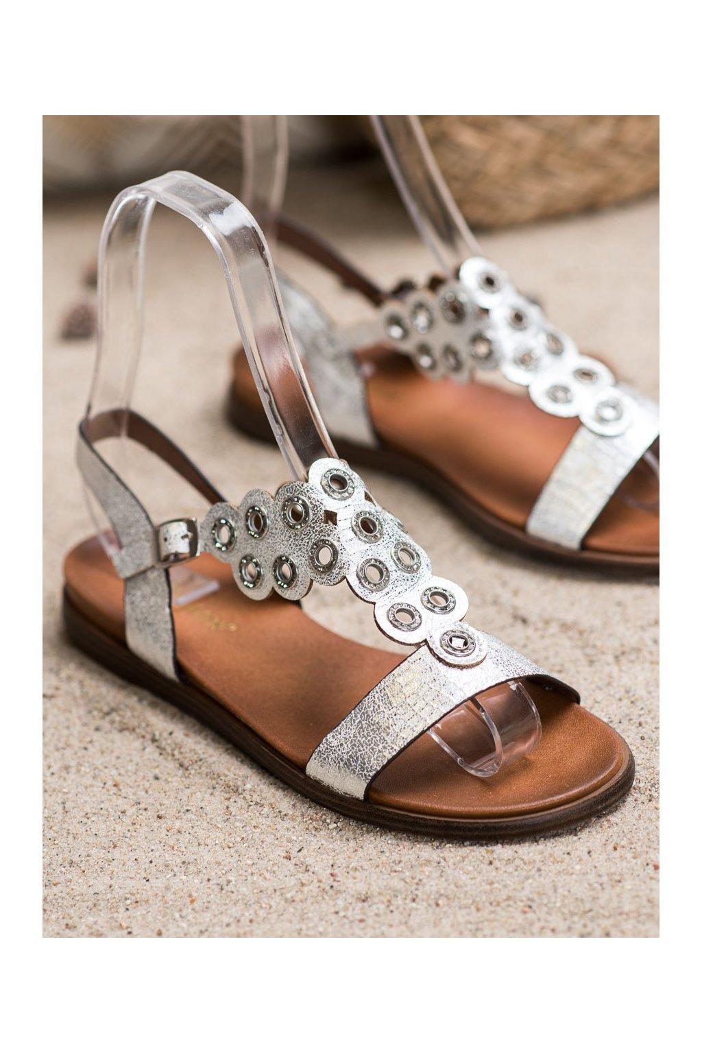 Sivé sandále NJSK SK012W/S