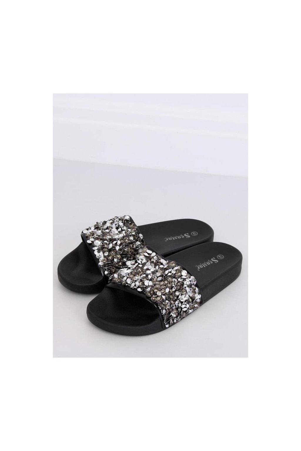 cierne modne slapky s kamienkami pre damy vo vypredaji (1)