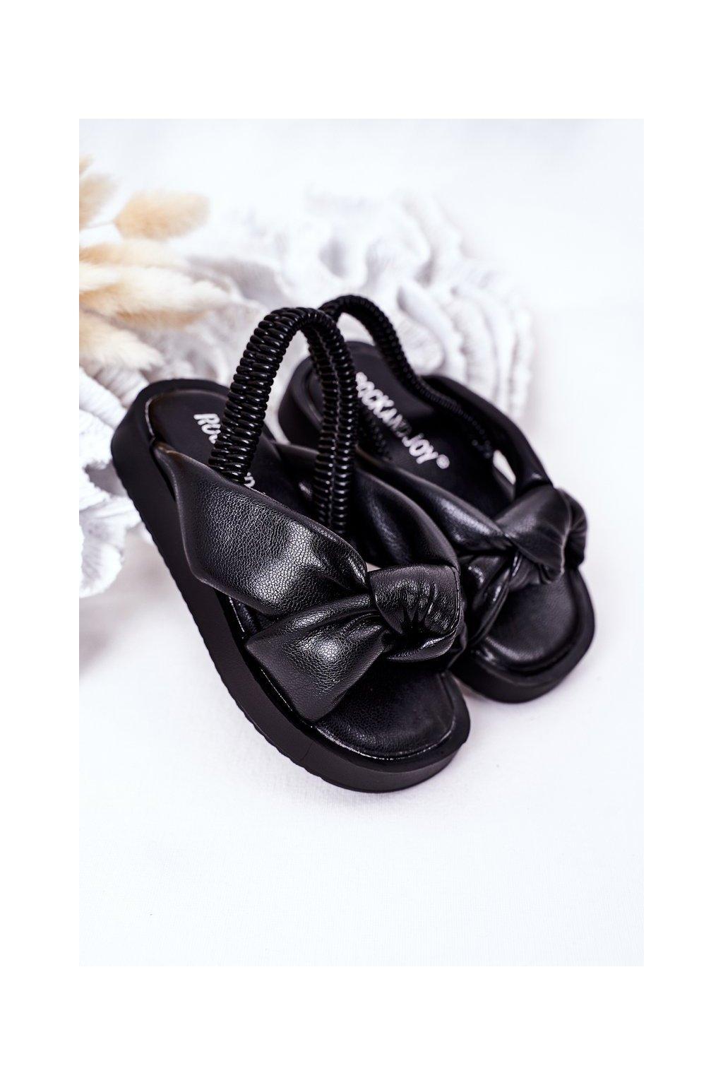 Čierne sandále NJSK 287-A BLACK