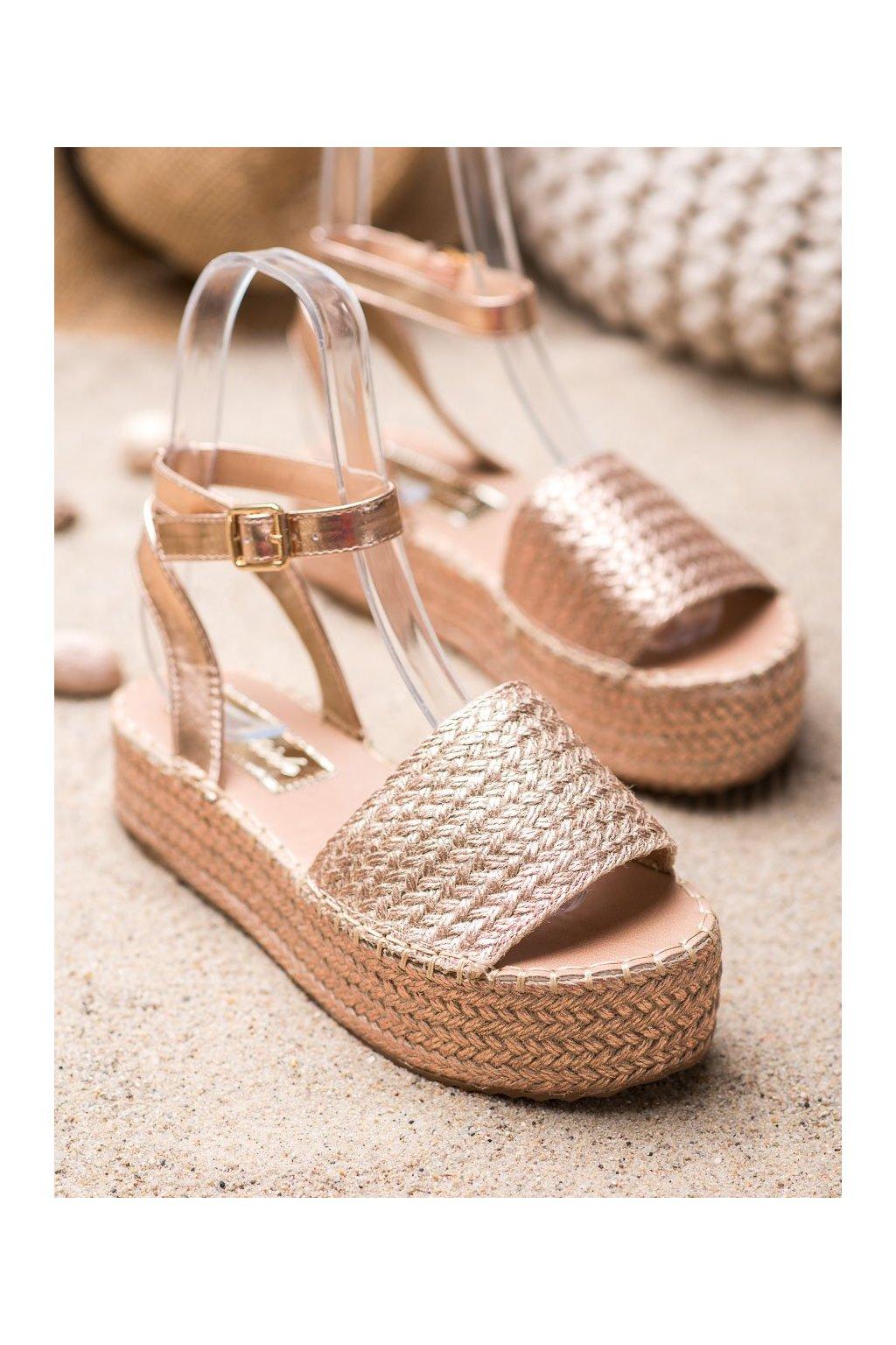 Žlté sandále NJSK Q738CH