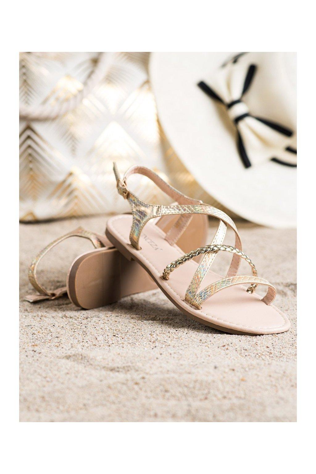 Žlté sandále NJSK YQE21-17136GO