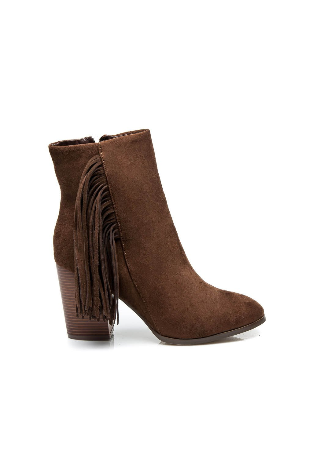 Hnedé topánky v štýle Boho ES-2381C / S3-18P (Veľkosť UK7 / EUR 40)