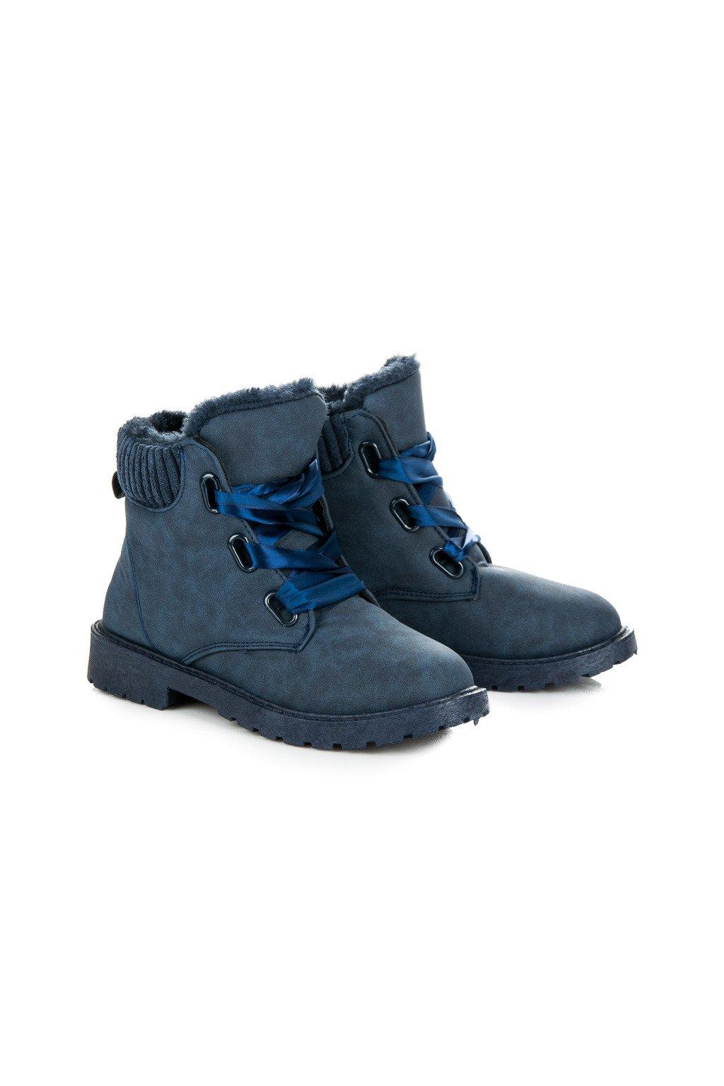 Modré topánky na zimu Drahomíra 33PT01AZ