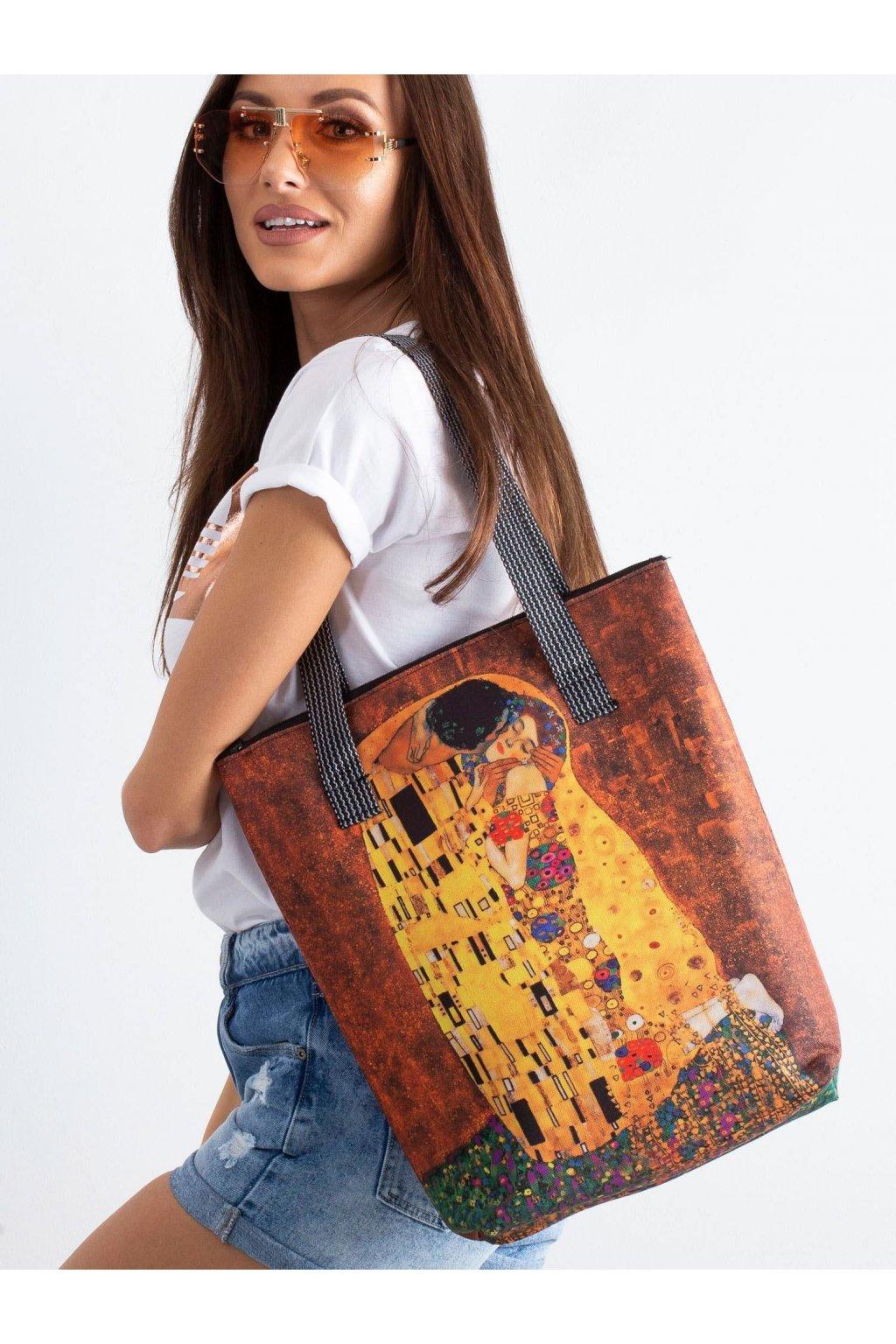 Textílna kabelka žltá kód CE-TR-007.91P/VivaNewKiss