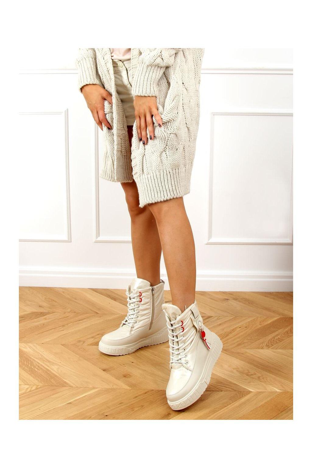 Dámske topánky na zimu hnedé NB509P