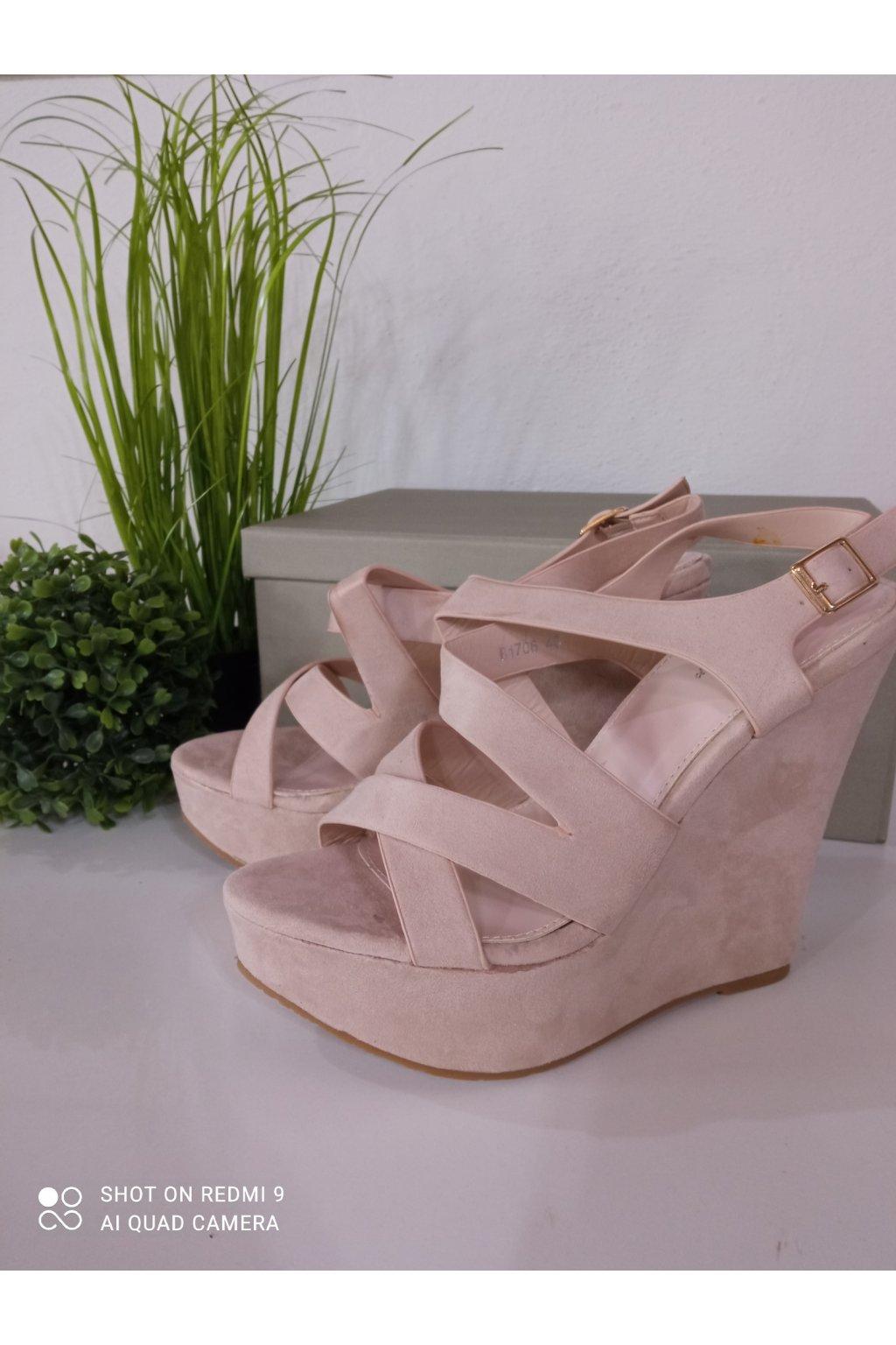 Béžové sandále NJSK B1706BE