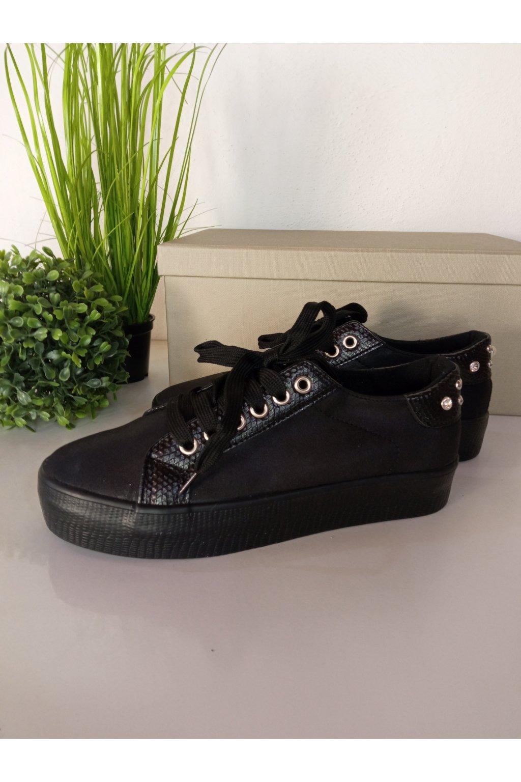 Čierne tenisky NJSK 5506B