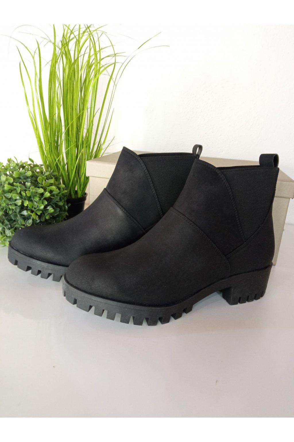 Čierne topánky NJSK DBT333/17B