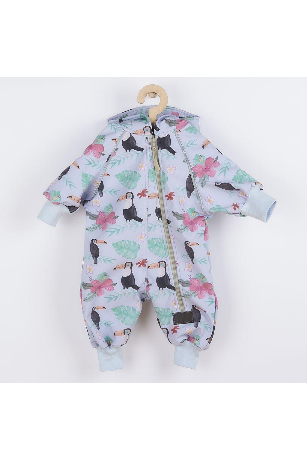 Softshellový dojčenský overal New Baby Tukan