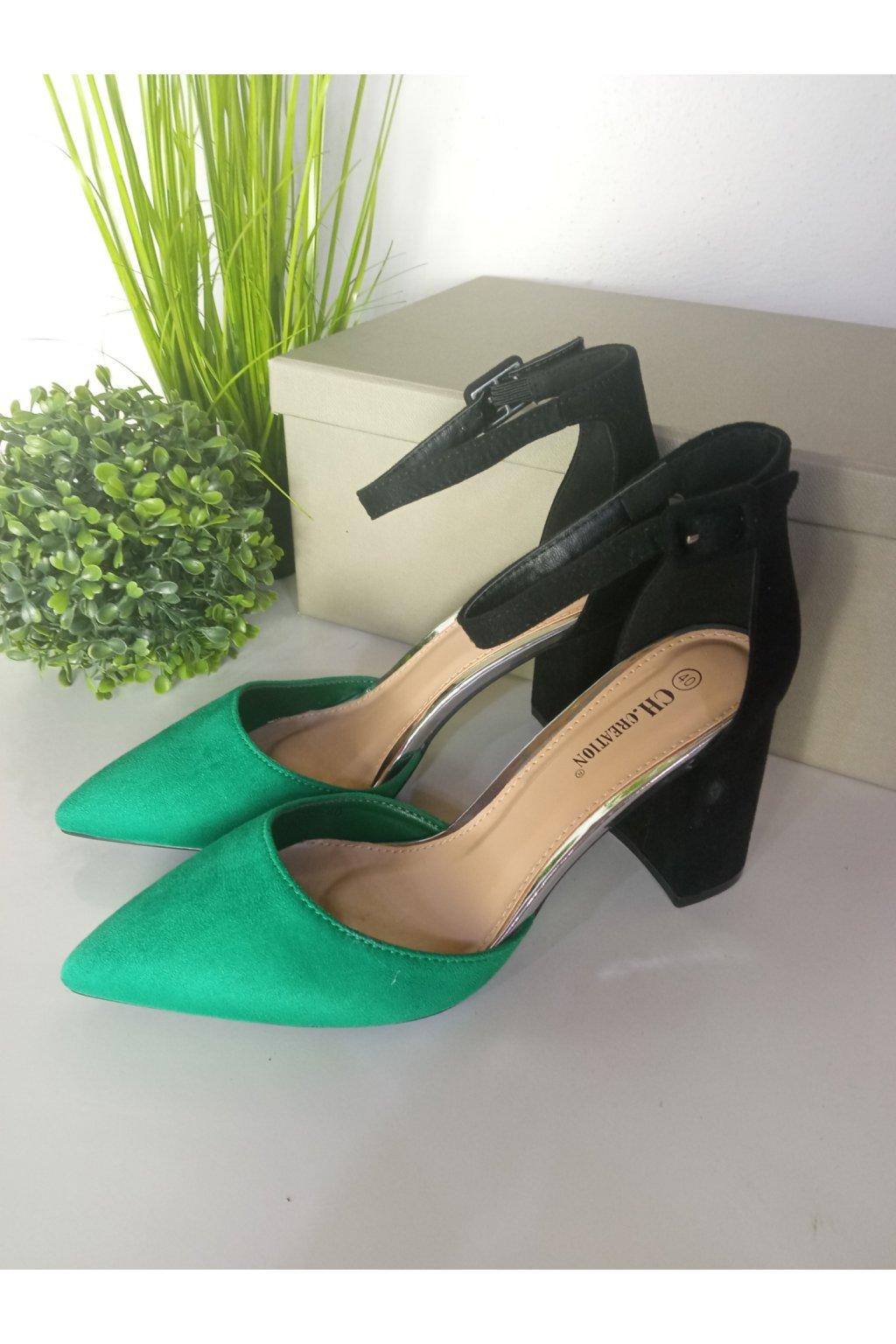 Zelené sandále NJSK G52