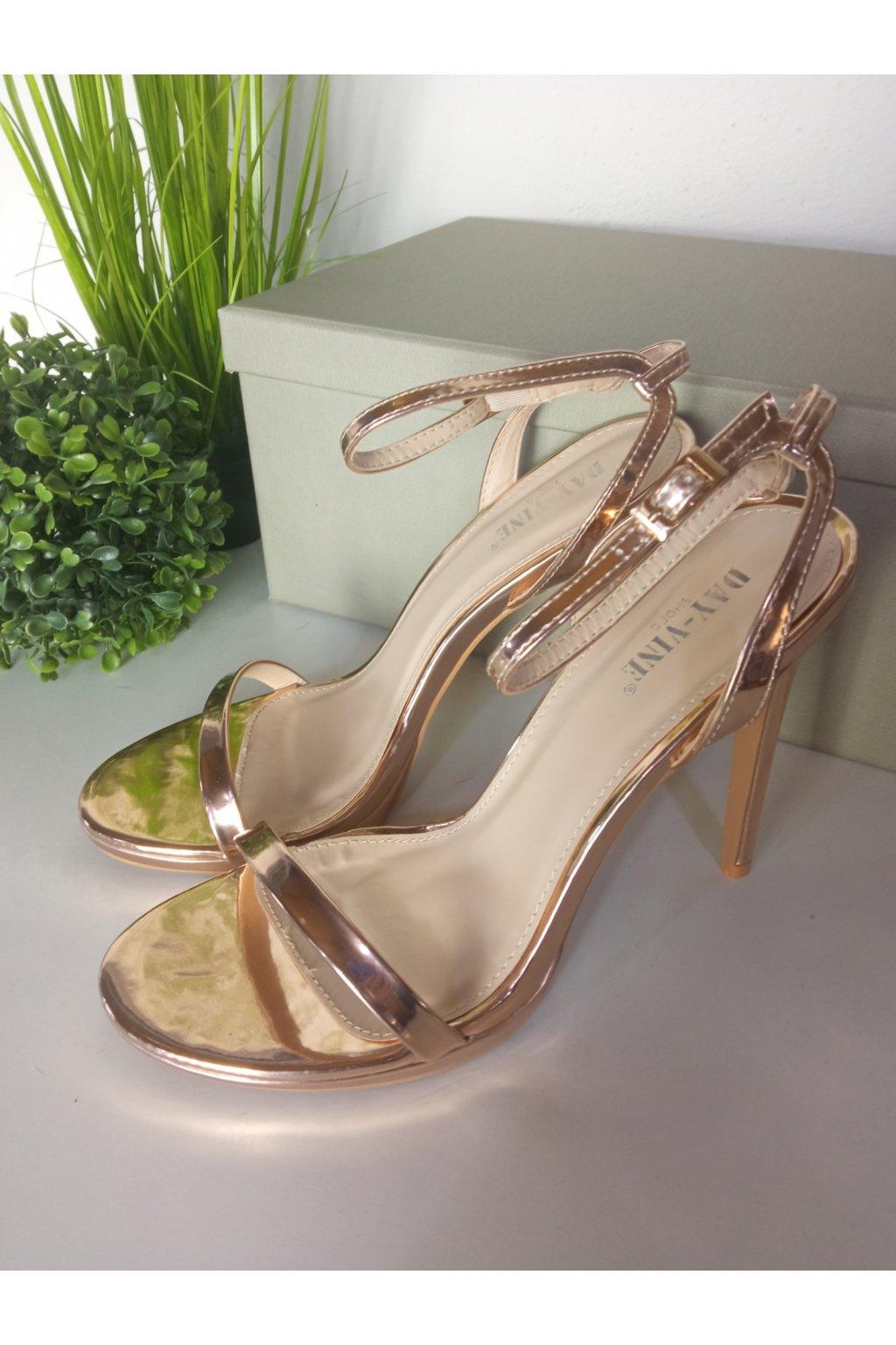 Zlaté sandále NJSK 17-25