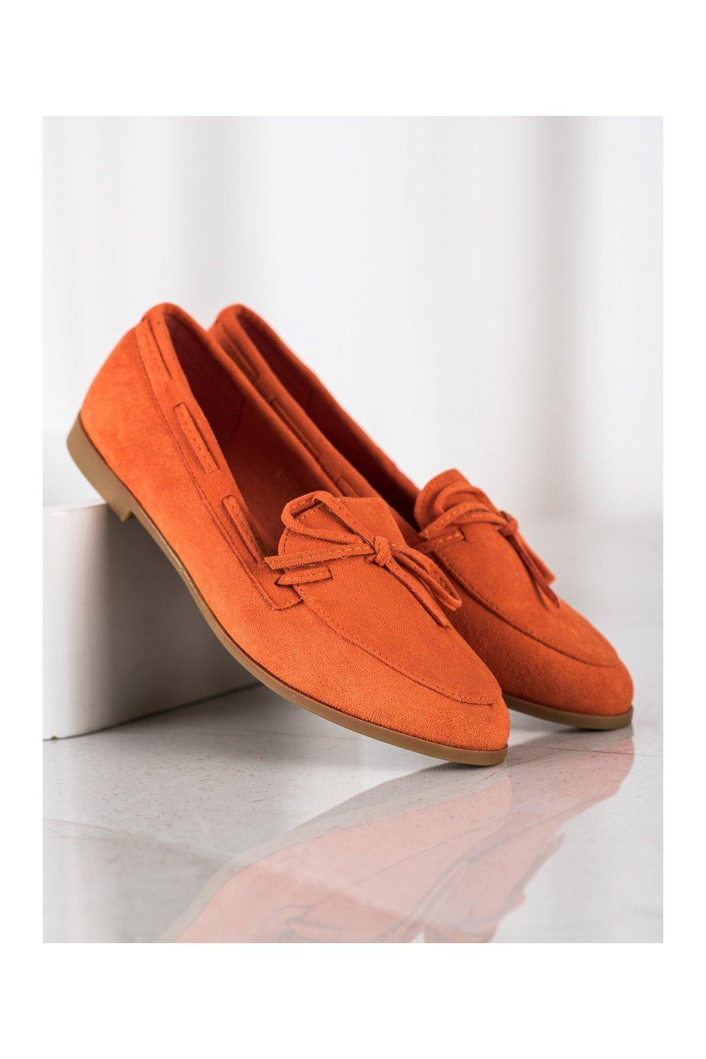 Oranžové mokasíny NJSK 3394OR