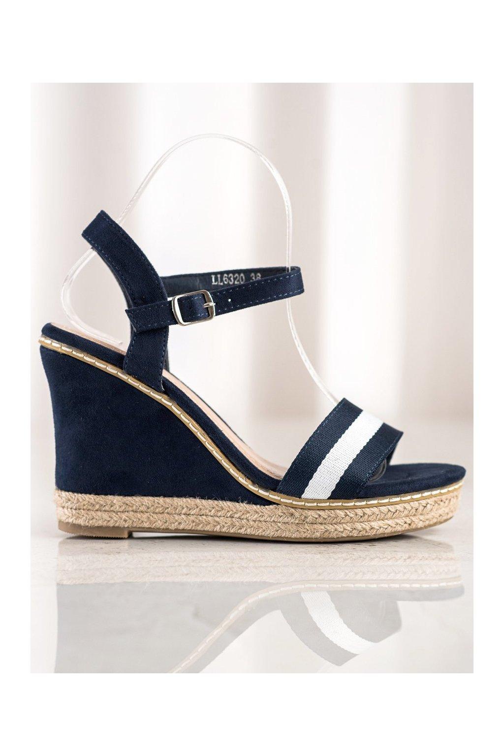 Modré sandále NJSK LL6320BL
