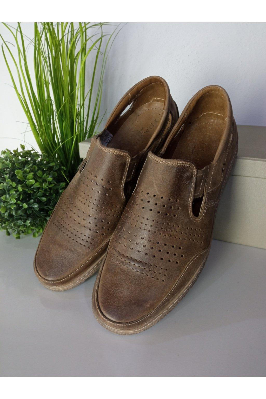 Hnedé topánky NJSK 863