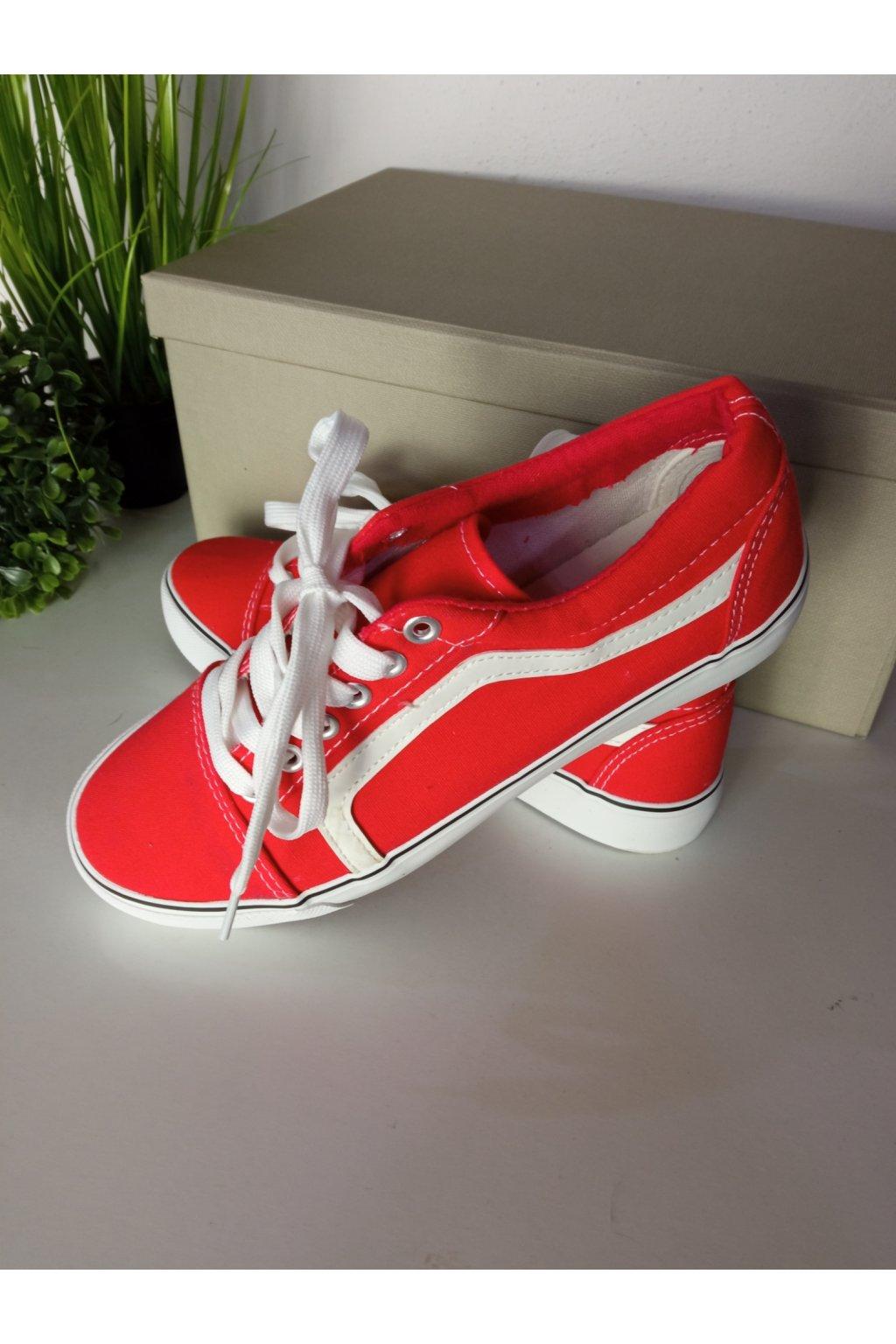 Červené tenisky NJSK BL117P
