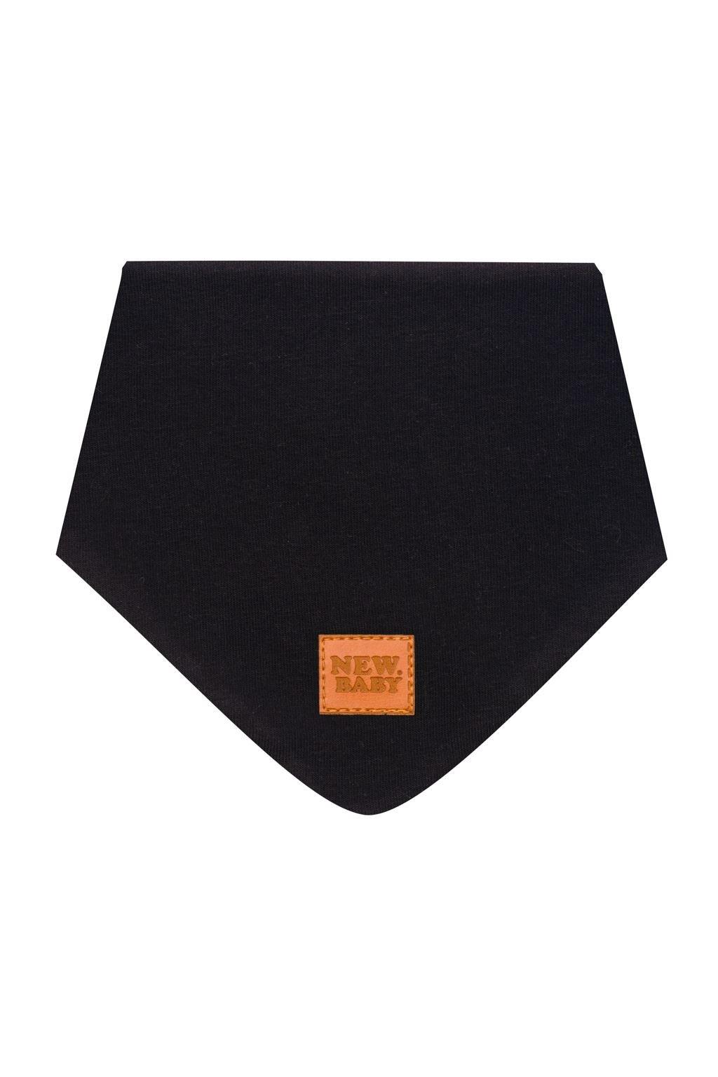 Dojčenská bavlnená šatka na krk New Baby Favorite čierna M