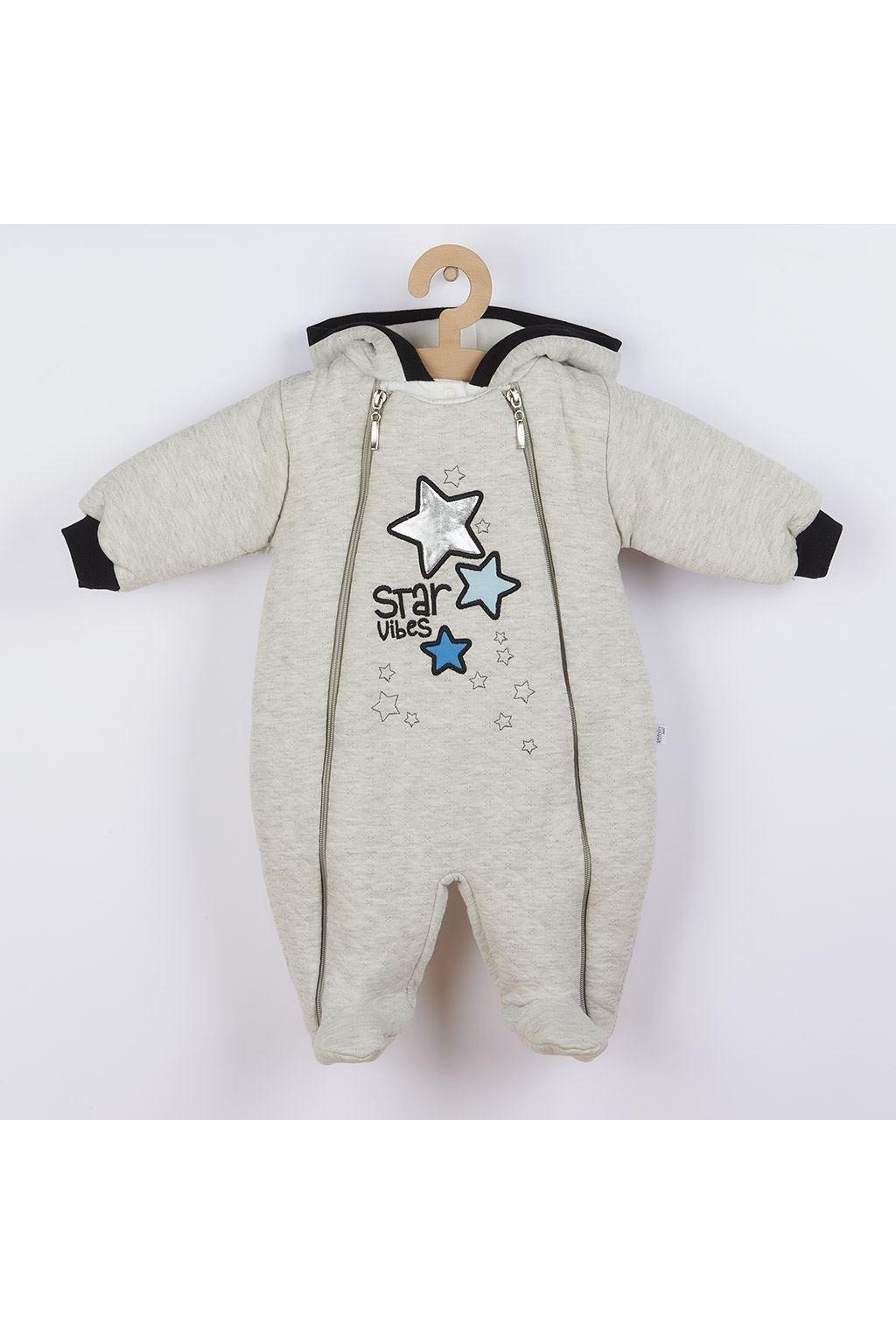Zimná dojčenská kombinéza s kapucňou Koala Star Vibes modrá