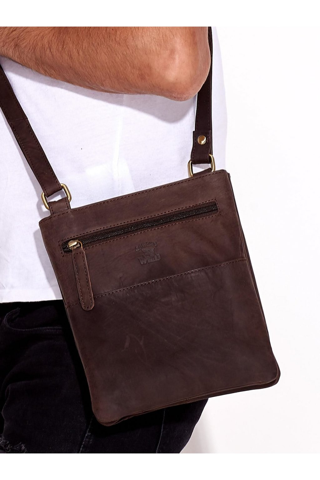 Pánska kabelka tmavo-hnedá kód CE-TR-109-CBH.14