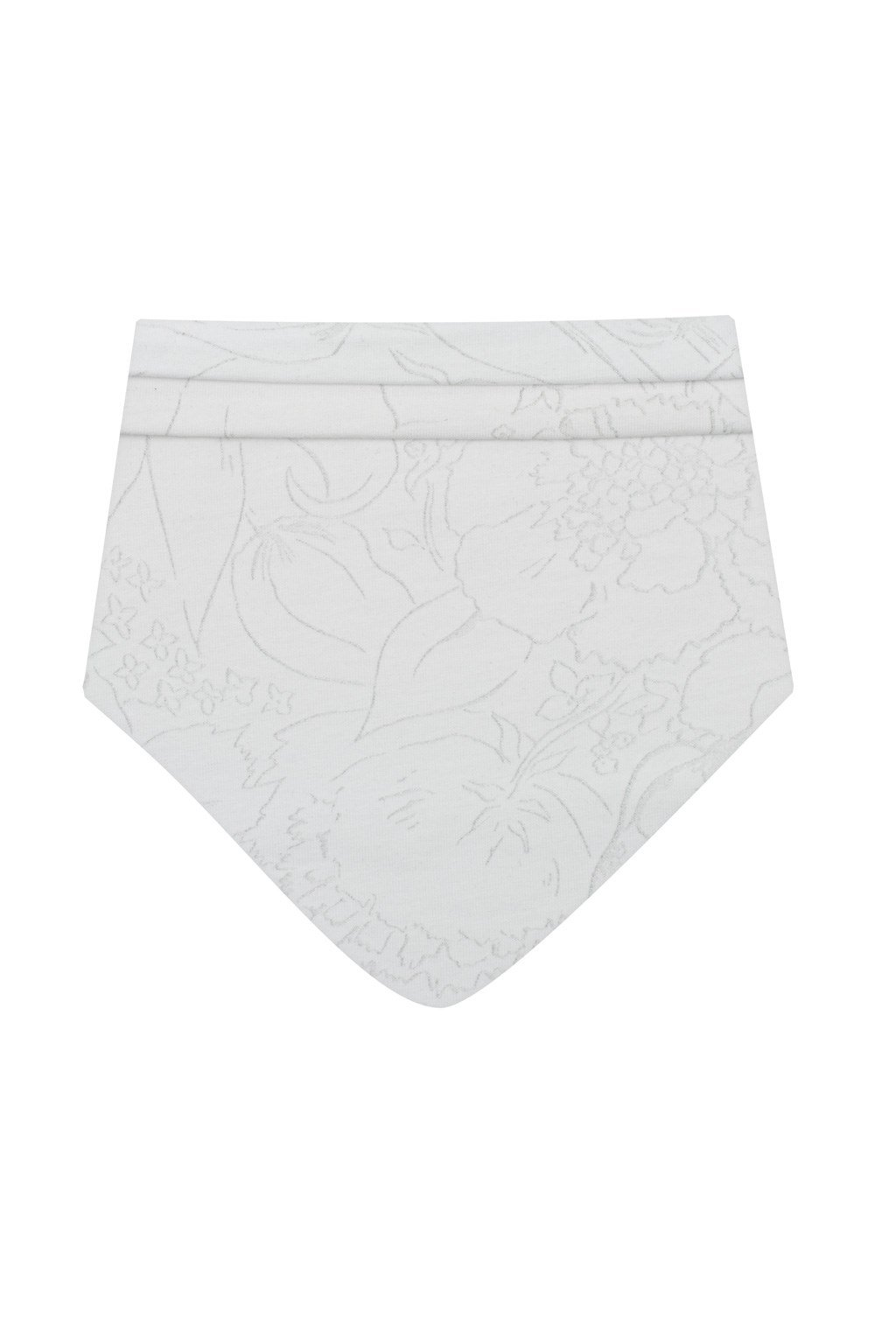 Dojčenská bavlnená šatka na krk New Baby NUNU biela S