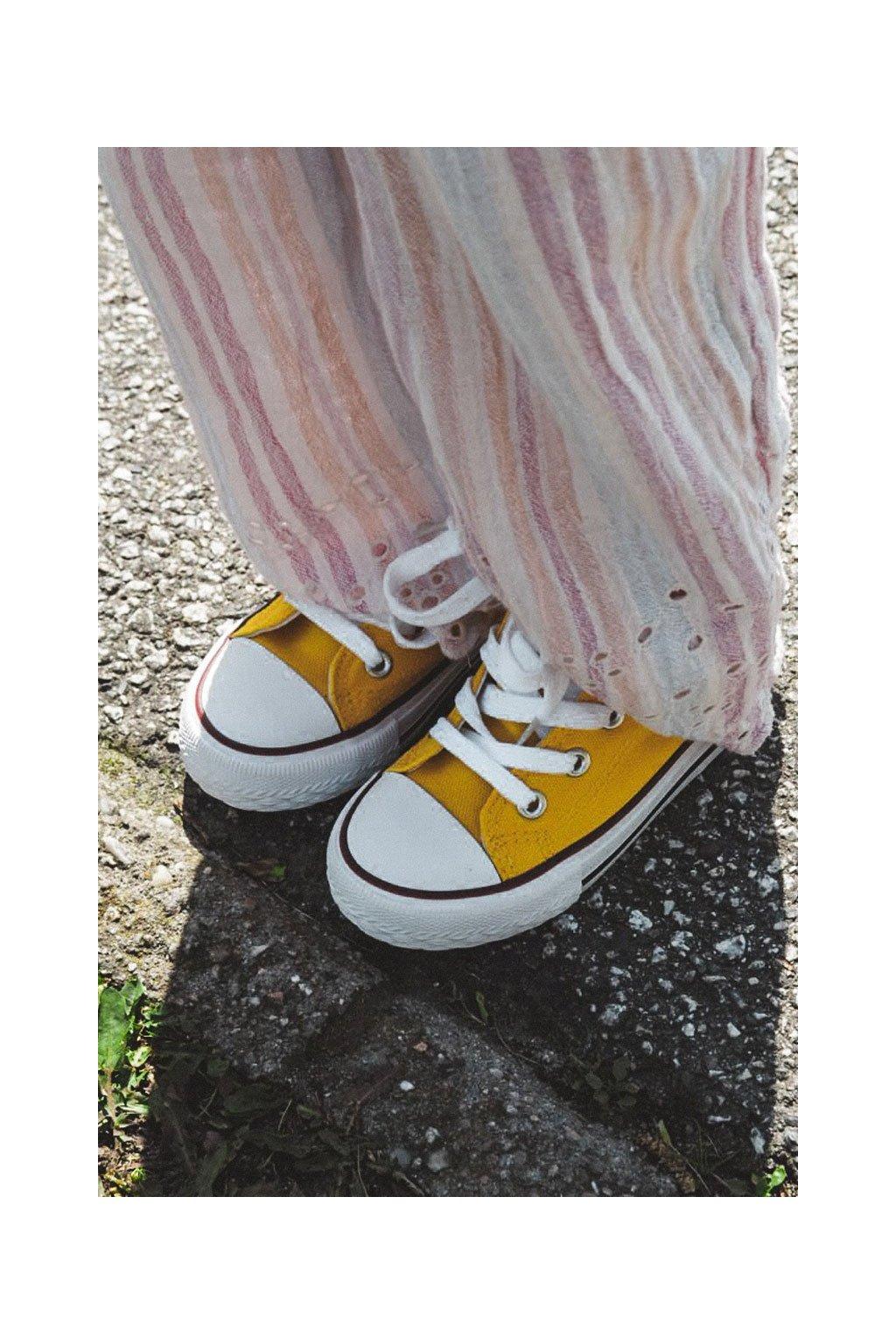 Detské tenisky žlté NJSK 860-F YELLOW