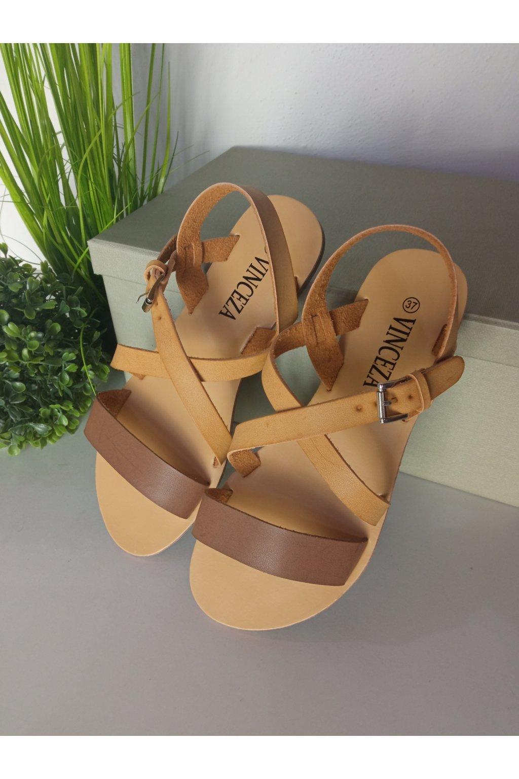 Hnedé sandále NJSK R14-D-SD-217-CA