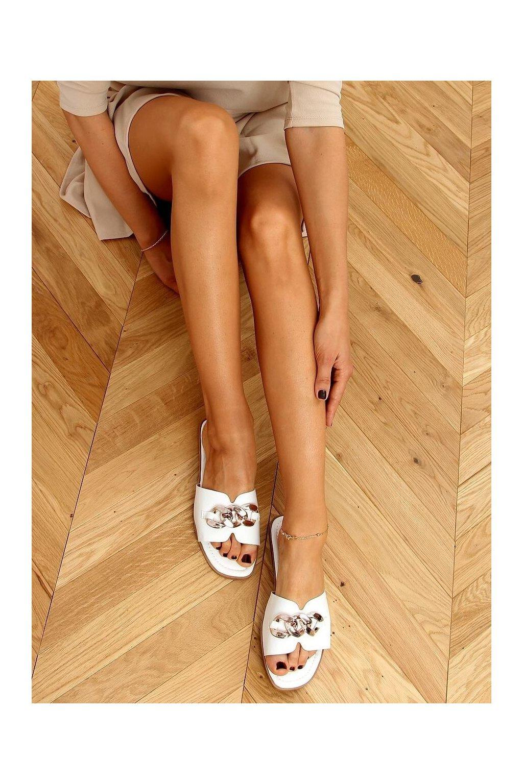 Damske šľapky biele 377